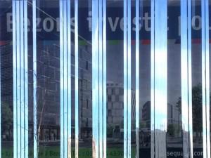 Toile-miroir / installation éphémère // ZAC Bords de Seine, Bezons /// 2014 – 2016