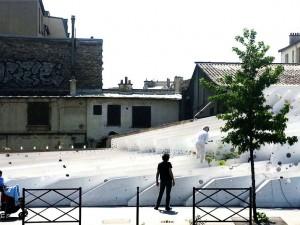 26 05 2015 / désintégration de la sculpture-paysage «Tranches de Ville» // le 18 06 2015 /// 17 rue martre à Clichy la garenne