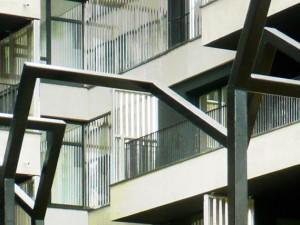 ''A ciel ouvert '' / Sculpture pérenne et logement social // Interprétation plastique d'un paysage disparu /// Gennevilliers  ////  2016